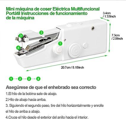 Máquina de Coser Portatil de Mano, Mini Máquina de Coser Portátil ...