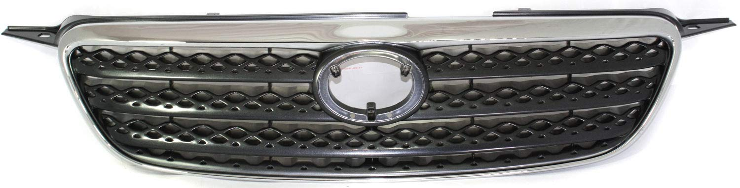 Grille for Dodge Full Size P//U 94-02 Honeycomb Insert Chrome Shell//Painted-Silver Insert Old Body Style