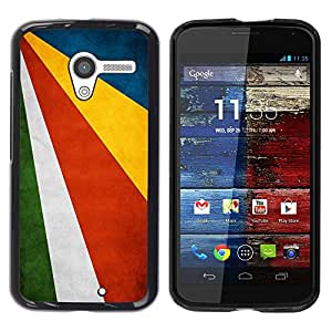 Caucho caso de Shell duro de la cubierta de accesorios de protección BY RAYDREAMMM - Motorola Moto X 1 1st GEN I XT1058 XT1053 XT1052 XT1056 XT1060 XT1055 - Seychelles Grunge Flag