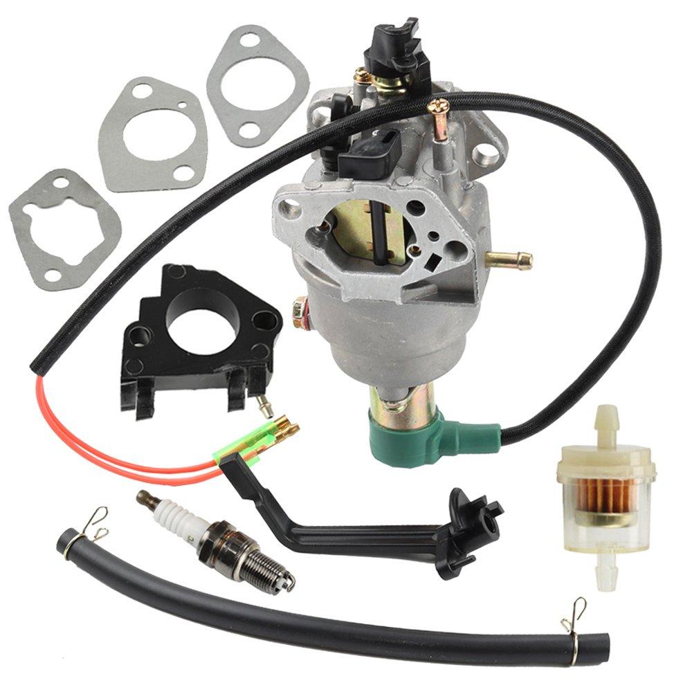Panari Carburetor + Insulator for Champion 40023 40030 41135 41152 41154 41302 41311 41331 41332 41351 49011 49056 C41155 C49055 CSA40036 CSA41155 CSA41155E ETL7007 Generator
