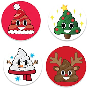 Amazon.com: Fridge Emoji Christmas Magnets, 4 Holiday Poop Emojis ...