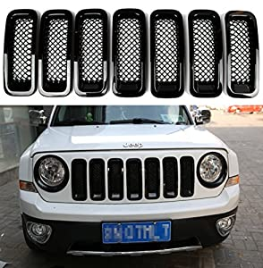 jeep patriot 2014 black. sunluway latest 2015 black front grill mesh grille insert kit for jeep patriot 2011 2012 2013 2014 7pc