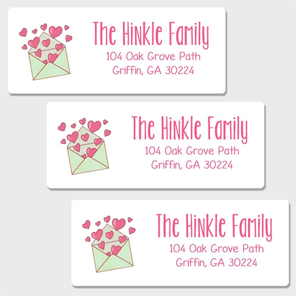 Customized Self-Adhesive Address Labels Oh Baby AL3 Stickers /& More 60 Personalized Love Themed Return Address Labels