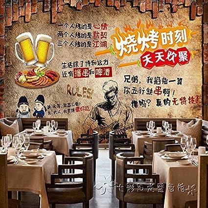 Poowef Wallpaper El Restaurante Brasserie Retro Wallpaper Cordero Cadena Grill Barbacoa Grill 鱼 Langosta Picante Estilo