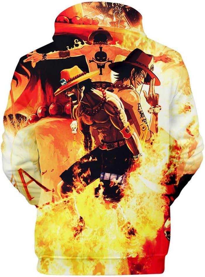 Cosstars One Piece Anime Hoodie Sweat /à Capuche Adulte Cosplay 3D Imprim/é Pullover Sweat-Shirt avec Poches