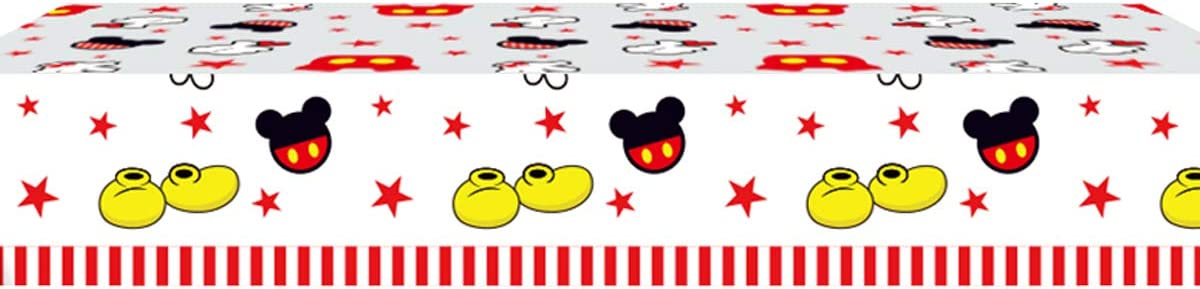 Mickey Party Supplies 70.8 x 42.5 Inch Mickey Mouse Party Tablecloth