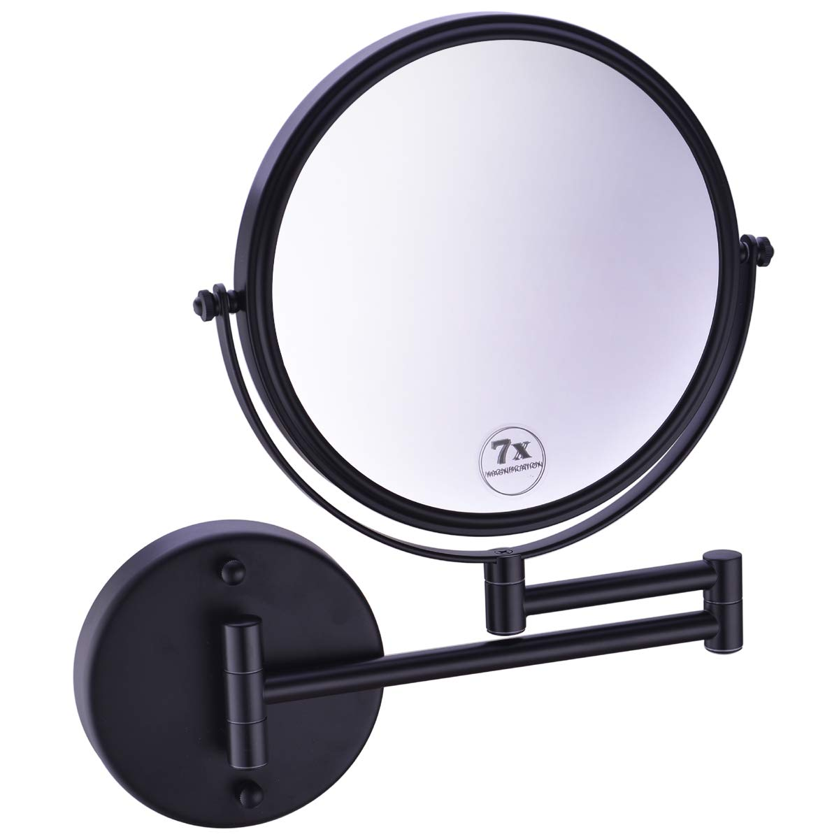 Home Zone Living Makeup Mirror Tri-Fold Vanity Mirror, Touch Control with Dimmable Lighting, 34 LED Lighting, 3X 5X and 10X Magnification, 180 Degree Rotation White