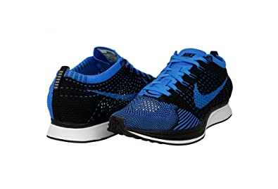 b0c0fd69e1077 Nike Flyknit Racer Black-Photo Blue-White SZ 5 Mens Womens SZ 6.5