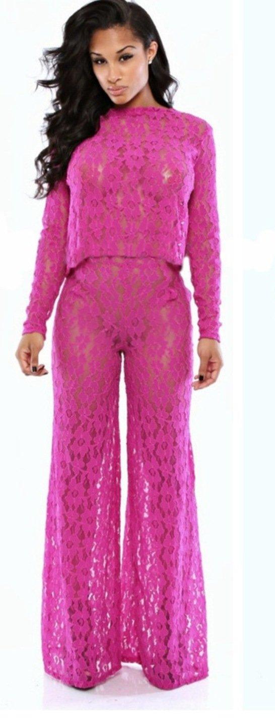 durable service Para mujer rosa brillante 2 piezas Juego Club ...