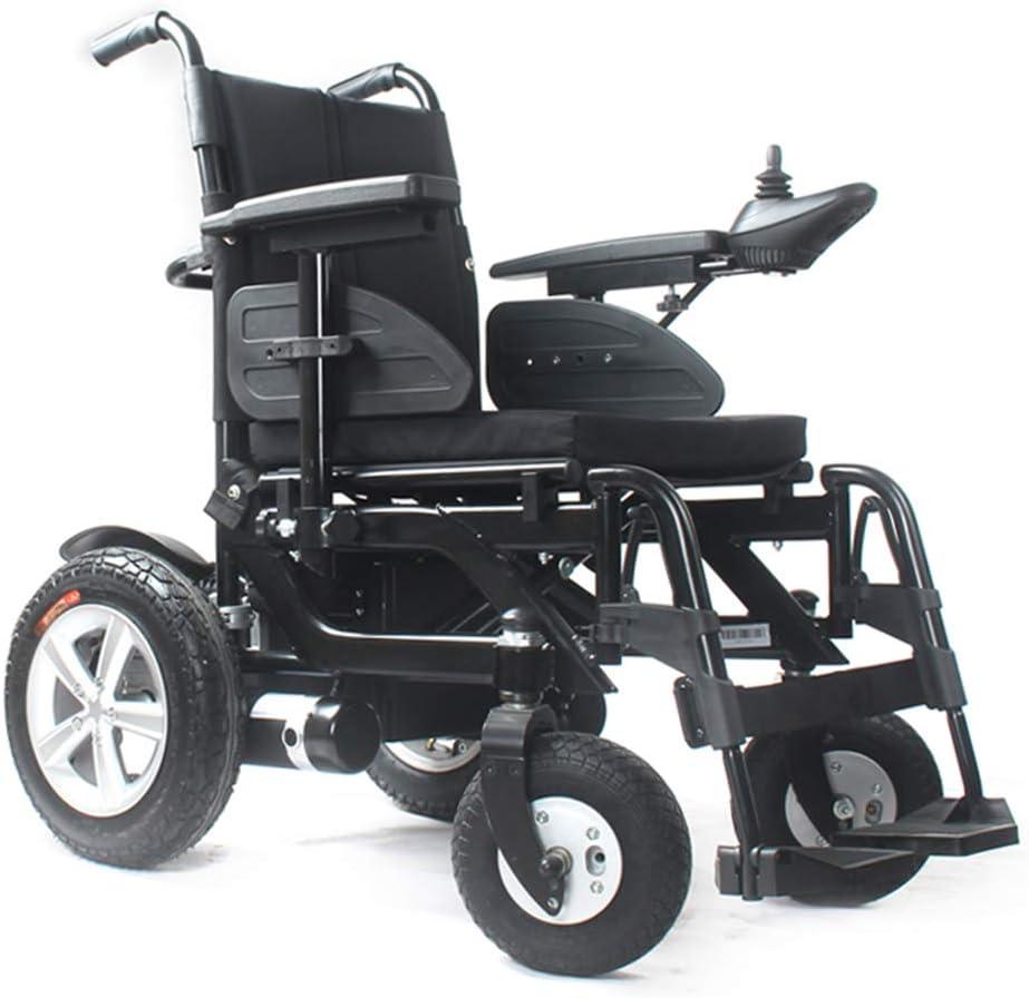 ZBB Sillas de Ruedas eléctricas Inteligente de Gama Alta Aleación de Aluminio Plegable Poder Silla de Ruedas Seguro Fácil de Conducir Silla de Ruedas motorizada para Ancianos con discapacidad obesos