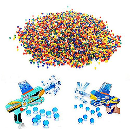 10000 PCS Colorful Crystal Gun Paint Ball Soft Water Bead Bullet for Toy Gun Paintball Bullet ()