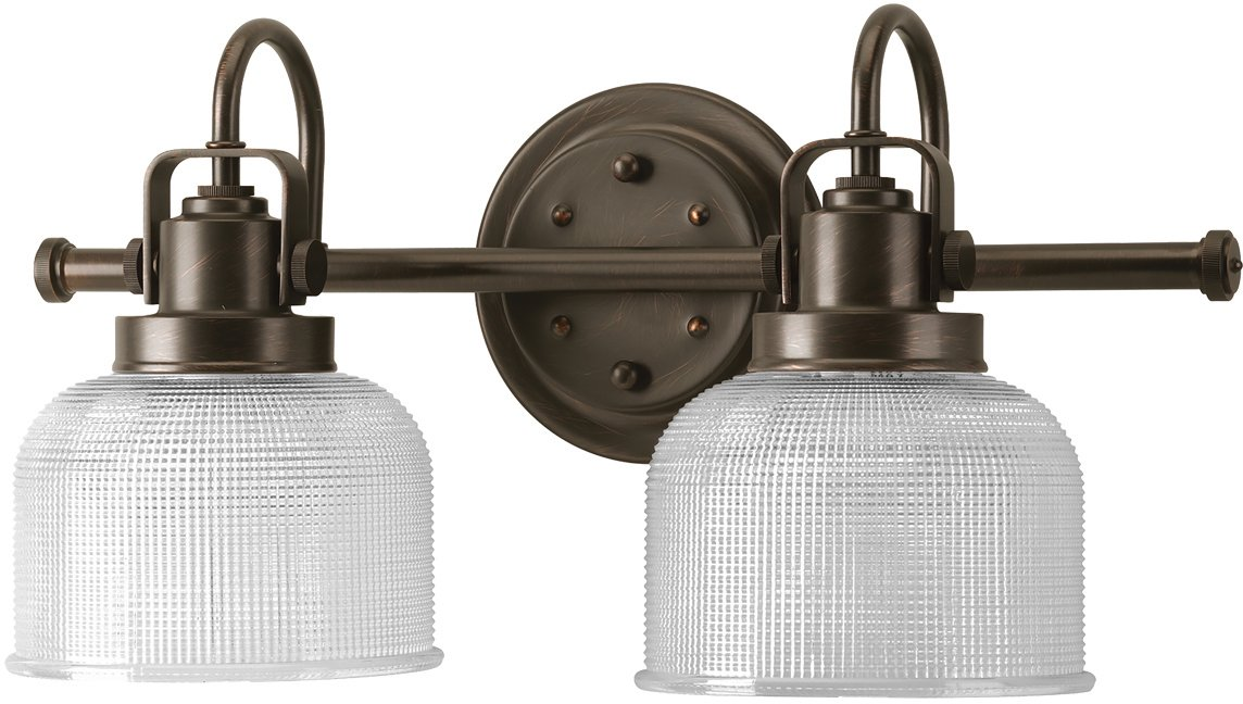 "Luxury Industrial Chic Bathroom Vanity Light, Medium Size: 8.75""H x 17""W, with Modern Famrhouse Style Elements, Fashion Bronze Finish, UHP2041 from The Harlow Collection by Urban Ambiance - STYLE AND DESIGN INSPIRATION: Medium in size and crafted in a Farmhouse style, its Vintage Electric design is both charming and graceful making it a highly regarded fixture in the Urban Ambiance portfolio. MATERIAL, FINISH AND WARRANTY: Made from high-purity Steel with our ornate Fashion Bronze finish. Superior workmanship backed by a 1 year electical components and finish warranty (original purchaser). DIMENSIONS: 8.75""H x 17""W x 7.25""D (see image gallery for dimensional drawing) - bathroom-lights, bathroom-fixtures-hardware, bathroom - 61mFTEeO7zL -"