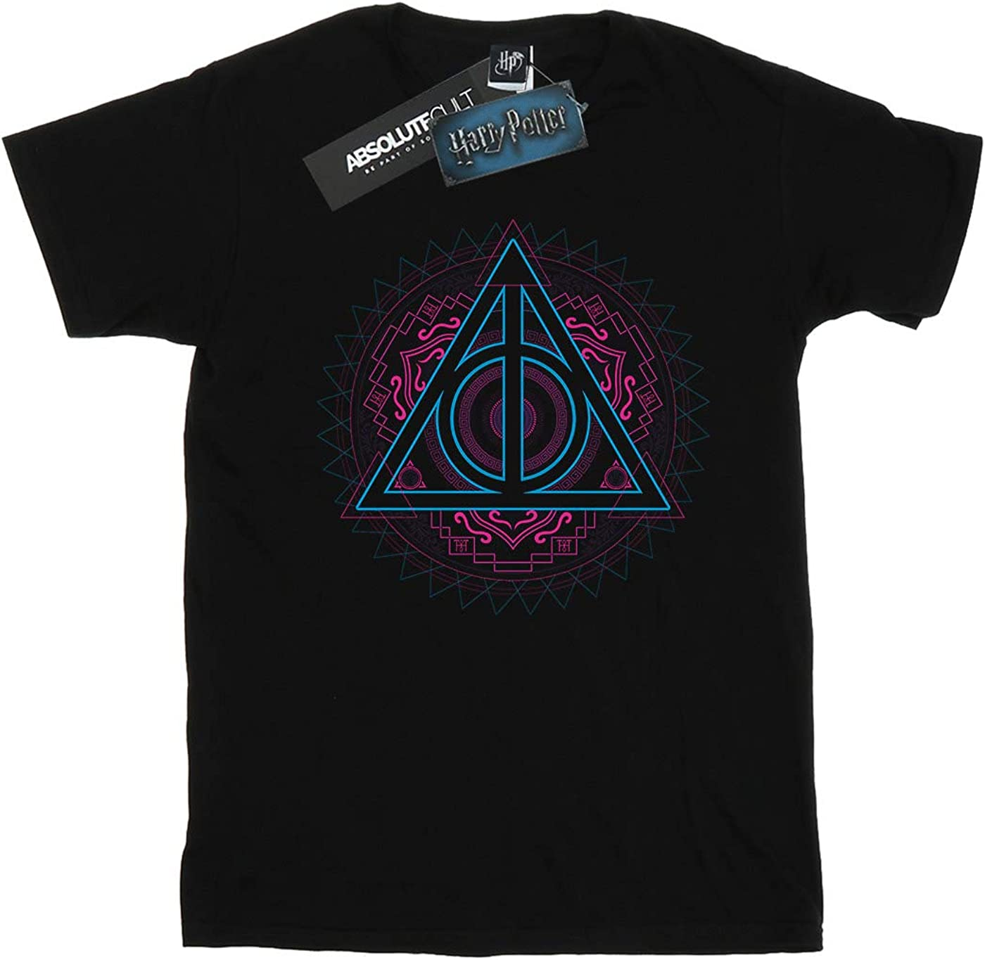 Harry Potter Girls Neon Deathly Hallows Nagini T-Shirt Multi Pack of 2