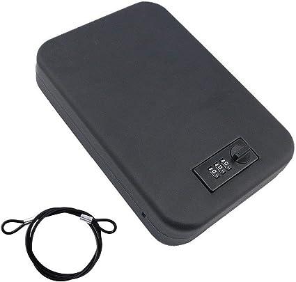 Cikuso Mini caja de almacenamiento portatil con cerradura de ...