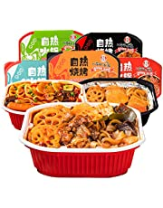 CZM Self Heating Hot Pot Chinese Meal Instant Noodle Rice Food Storage Snacks (Spicy Sausage Flavor 400g)