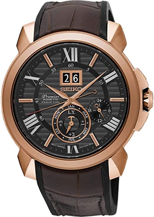 Amazon Com Seiko Premier Novak Djokovic Special Edition Snp146p1 Watch Perpetual Calendar Watches