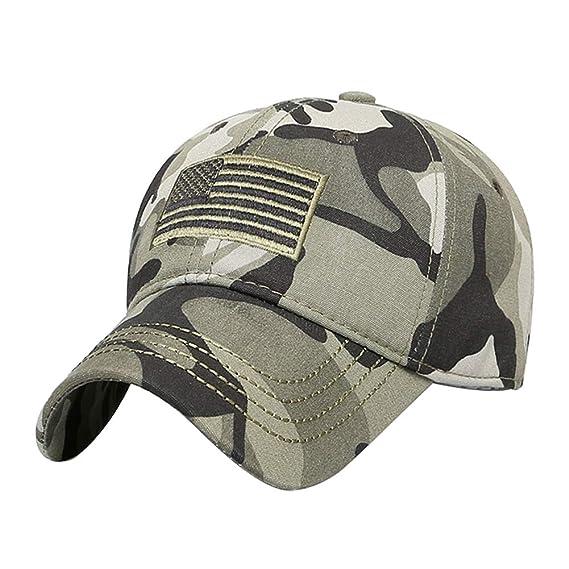 Gysad Transpirable Gorras Planas Práctico Gorras Hombre Sombrero Hombre  Boina Newsboy Hat (Camuflaje) 7450ceb077f