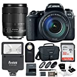 Canon EOS 77D w/ 18-135mm USM Lens & Canon SLR Bag, Flash, Filters w/ 32GB Kit