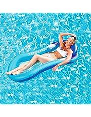 ارجوحة مائية عائمة وقابلة للنفخ بتصميم كرسي من تي كيه، مريحة لحمام السباحة، سجادة شاطئ للاطفال والبالغين للسباحة في الصيف والربيع في الهواء الطلق