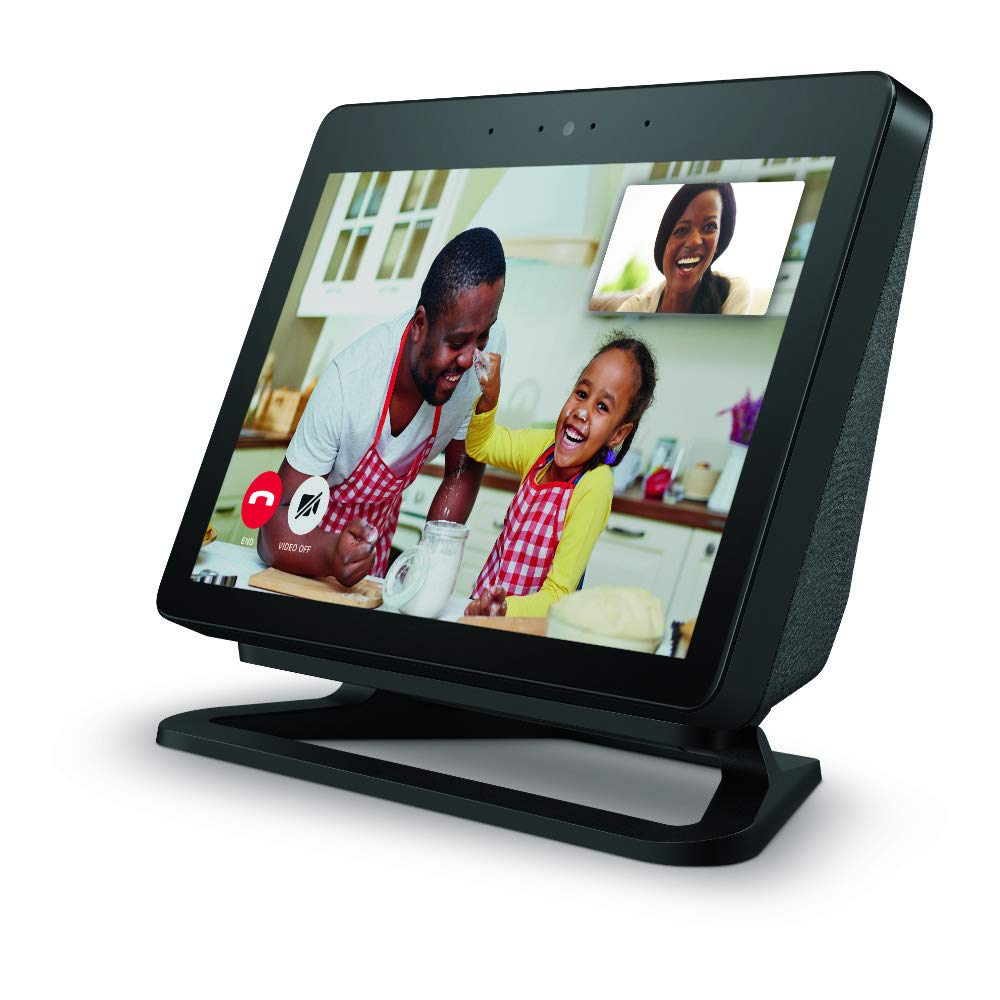 Echo Show (2nd Gen) bundle with Echo Show Adjustable Stand - Charcoal