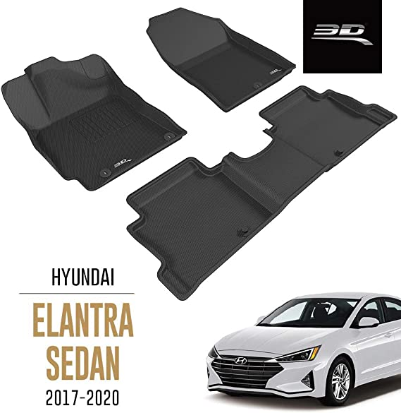 hb 2017 Black Element EXP.ELEMENT3D02108210k Tailored Custom Fit 3D Rubber Floor Mats for Hyundai i30