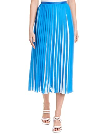 4b5fcf41e0 Amazon.com: BCBGMAXAZRIA Women's Two-Tone Pleated Midi Skirt: Clothing