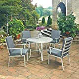 Cheap Home Styles 5700-308 South Beach 42.5″ Round Patio Dining Set, Gray