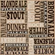 Ideal Home Range 20 Count Boston International 3-Ply Paper Cocktail Napkins, Brown Paper Beers