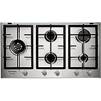 Cooktop 5 bocas Brastemp Gourmand Inox com duplachama e trempe com ferro fundido - 220V