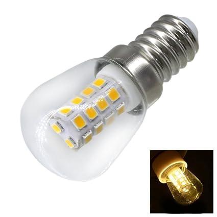 Nnycir Lámparas de Cristal Que encienden 2W E14 Refrigerador LED Bombilla AC220V Brillante Lámpara de Interior