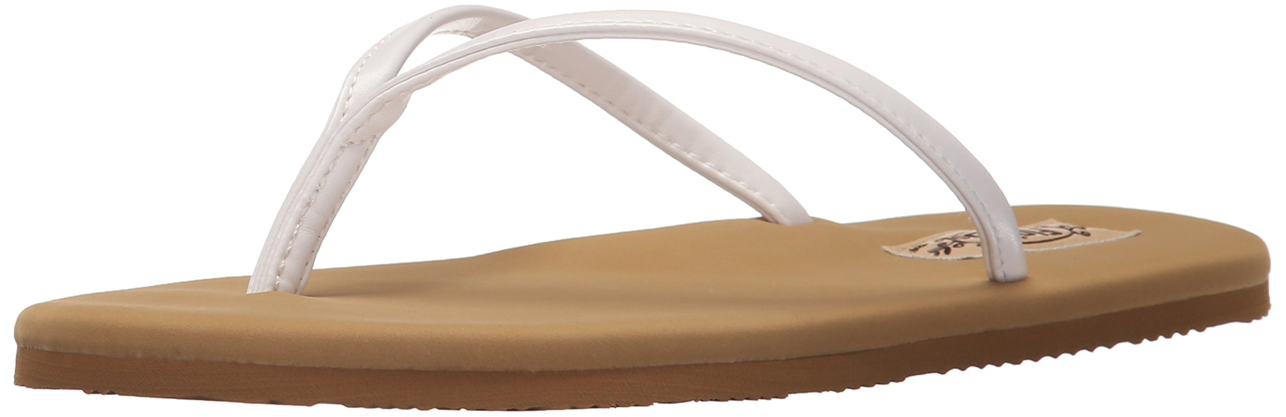 Flojos Women's Fiesta Flat, White/Tan, 8 M US