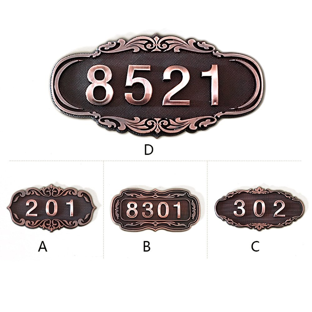 Godchoices Personalized Address Plaque Custom House Number Sign with Arch Top for Home Hotel Apartment Room, Display Your Address