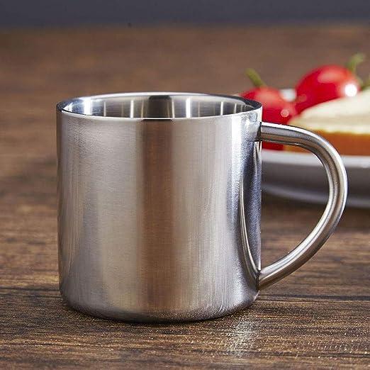 Maxtapos Maxtapos-140 ml taza de café de acero inoxidable ...