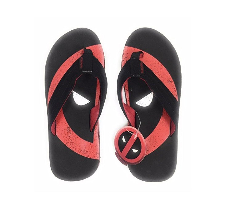 202d219e4 Marvel Deadpool Men s Flip Flop Sandals Beachwear Black Red Movies Hero good