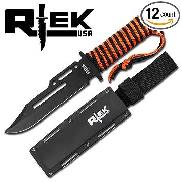 Amazon.com: Cuchillo militar Rtek de caza, combate tá ...