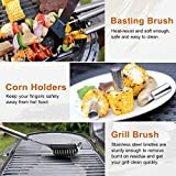Beionxii BBQ Grill Tools Set - 19 Pieces Heavy Duty Stainless Steel Grilling Utensils with Aluminum Case, Complete Grill Accessories Outdoor Grilling Kit
