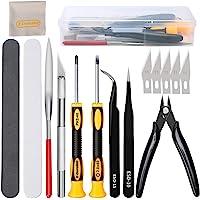 16pcs Kit de herramientas modelo Gundam de fabricación construcción de pasatiempos profesionales, juego de herramientas…