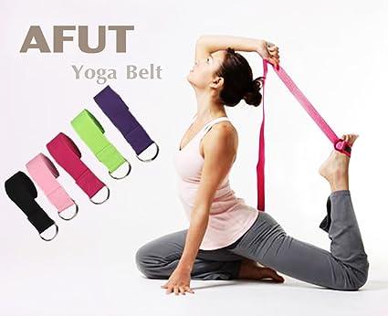 Afut Yogagurt Lang 1 8m Yoga Gurt Baumwolle Yoga Strap Mit Verstellbarem D Ring Schnalle Für Erstrecken Muskel Und Körpertraining Flexibilität Und Physikalische Therapie Amazon De Sport Freizeit