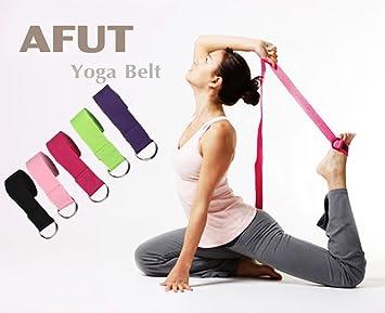 AFUT 2 Yoga Correa de Largo 1,8 m Yoga Correa de Algodón ...