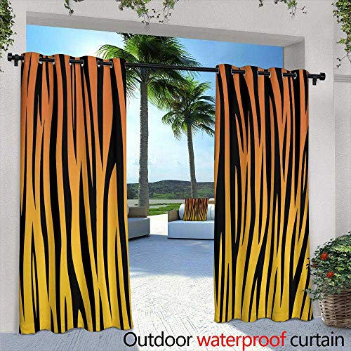 berrly Outdoor Privacy Curtain for Pergola,The Picture Painted in Oil Parisian Cafe,W96 x L96 for Front Porch Covered Patio Gazebo Dock Beach Home ()
