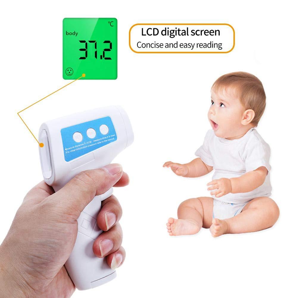 LIJUMN-Home Termometro di Temperatura Frontale Termometri digitali Termometro Senza Contatto Frontale per Bambini Bambini Rilevatore di Temperatura per Adulti