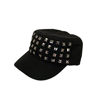 c48786efc2d TrendsBlue Adjustable Cotton Military Style Studded Front Army Cap ...