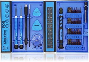 Kingsdun 38 in 1 Precision Multi Screwdriver Set,Phillips Triwing Torx Star Hexagon Screwdriver Tool Set with Small Case for Apple Iphone,Macbook,PC, Other Electronic Repairs
