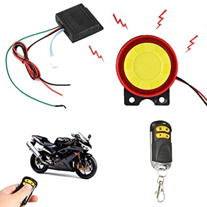 Amazon.com: Motorcycle Lock Alarm System with Remote Control ...