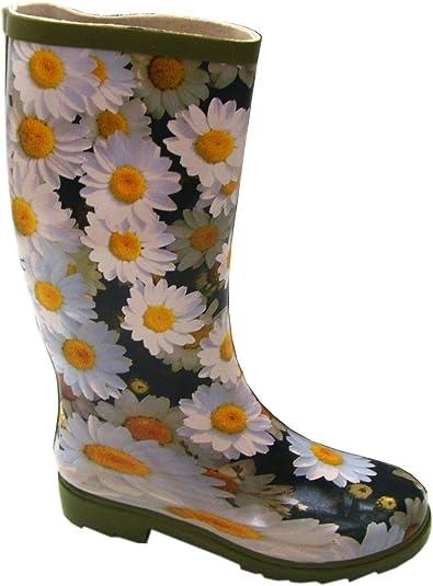bottes pluie fleurs taille
