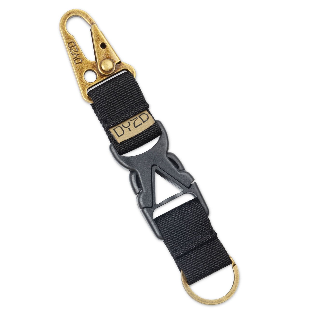 DYZD Tactical Gear Keychain Clip 100/% Nylon Belt Key Chain Tactical Key Holder Quick Release Buckle Key Ring Outdoor Keychain ZHAOWEI