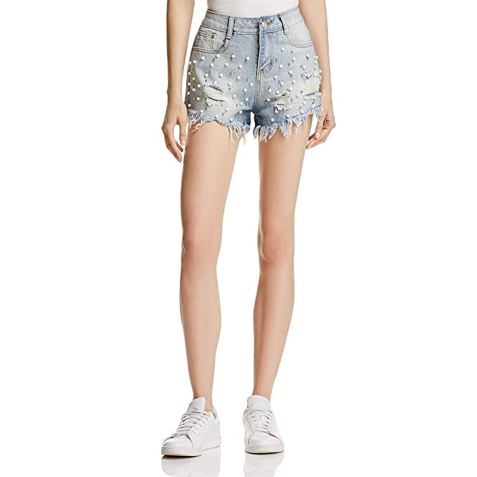 destroyed denim shorts for women