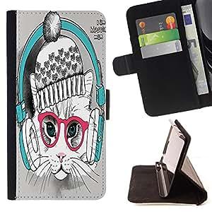 King Case - FOR LG Nexus 5 D820 D821 - come to an end - Prima caja de la PU billetera de cuero con ranuras para tarjetas, efectivo Compartimiento desmontable y correa para la mu?eca