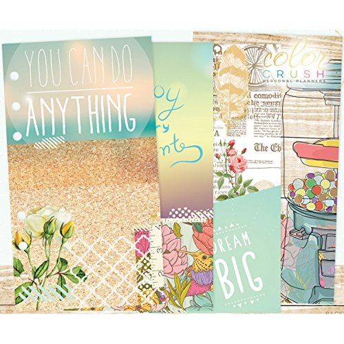 Color Crush A2 Personal Planner Inserts -Staying Inspired - 4 Designs