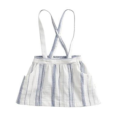 7f184b2e81f marc janie Girls  Fashion Suspender Skirt Baby Girls Jumpsuit Strap Overall  Dress 3 Years Blue